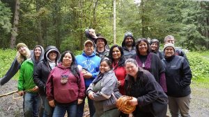 Photo: Maori visitors to IWRI