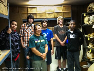 Photo: Native Youth Enrichment Program participants visit the UW archeology department.
