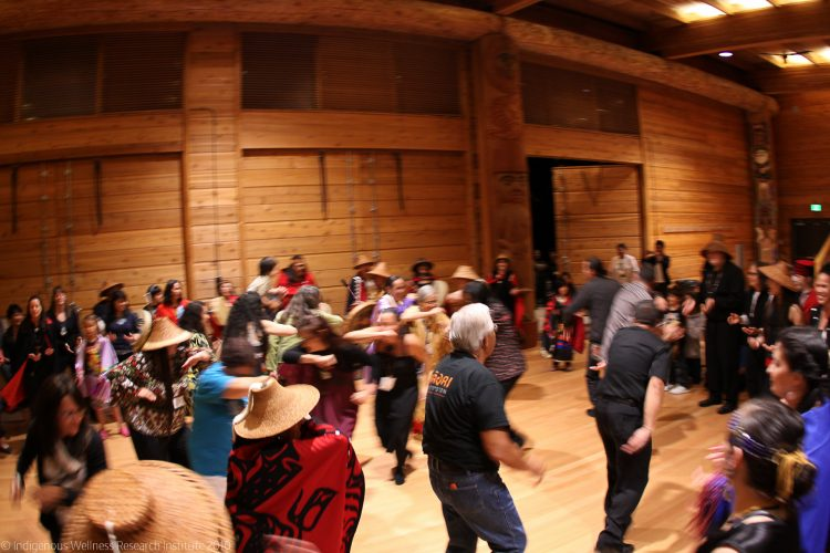 Photo of people dancing at the Indigenous Cultural Sharing at the 2010 INIHKD conference