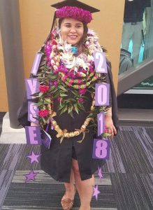 Photo of Elyse Ke'ala Rickard at graduation