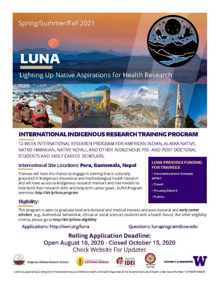 LUNA Cohort 2 Recruitment Flyer